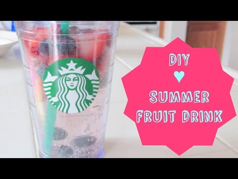 DIY ♥ Summer Fruit Drink! ♥