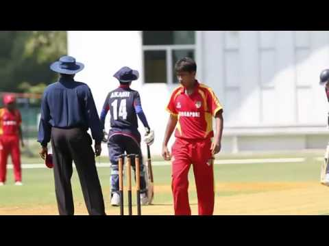 Nepal U-16 CRICKET national team v/s singapore