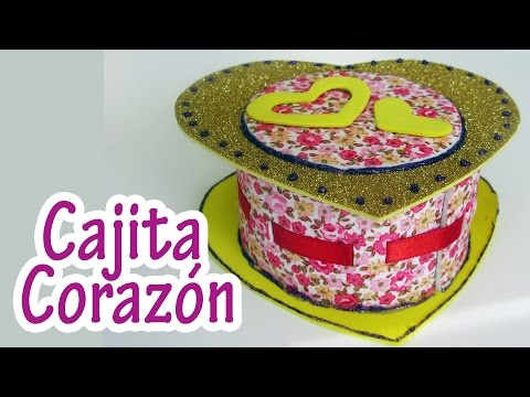 Manualidad : Cajita Corazón - Heart Box