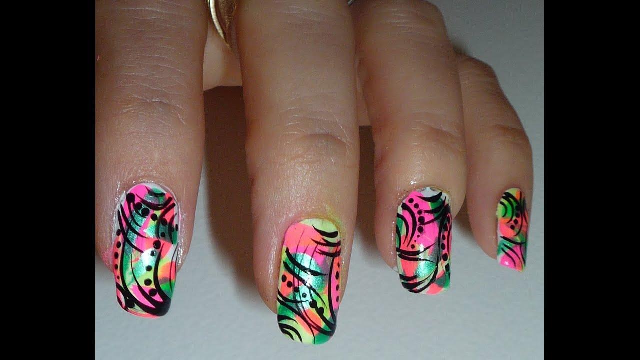 24 brilliant Neon Color Nail Designs – ledufa.com