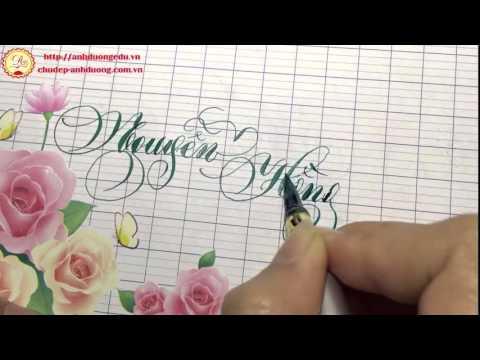 Luyện chữ đẹp sáng tạo viết tên