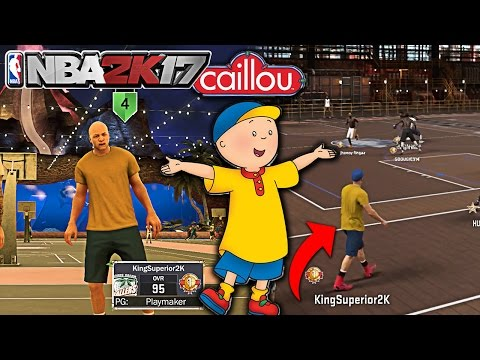 NBA 2K17 CAILLOU CHILDHOOD TV SHOW CHARACTER HOOPING AT THE PARK | MYPARK GAMEPLAY KINGSUPERIOR SS1