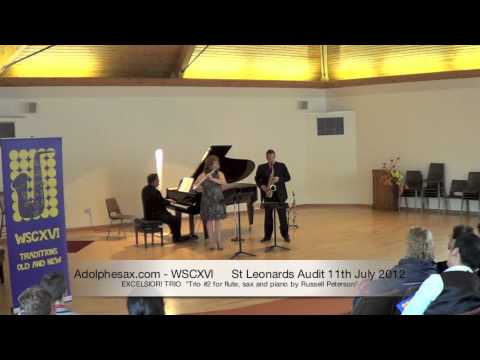 WSCXVI EXCELSIOR! TRIO   Trio #2 for flute, sax and piano by Russell Peterson