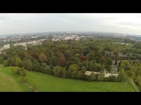 Kopiec Krakusa i Bagry z pokładu drona - 13.09.2014, Kraków