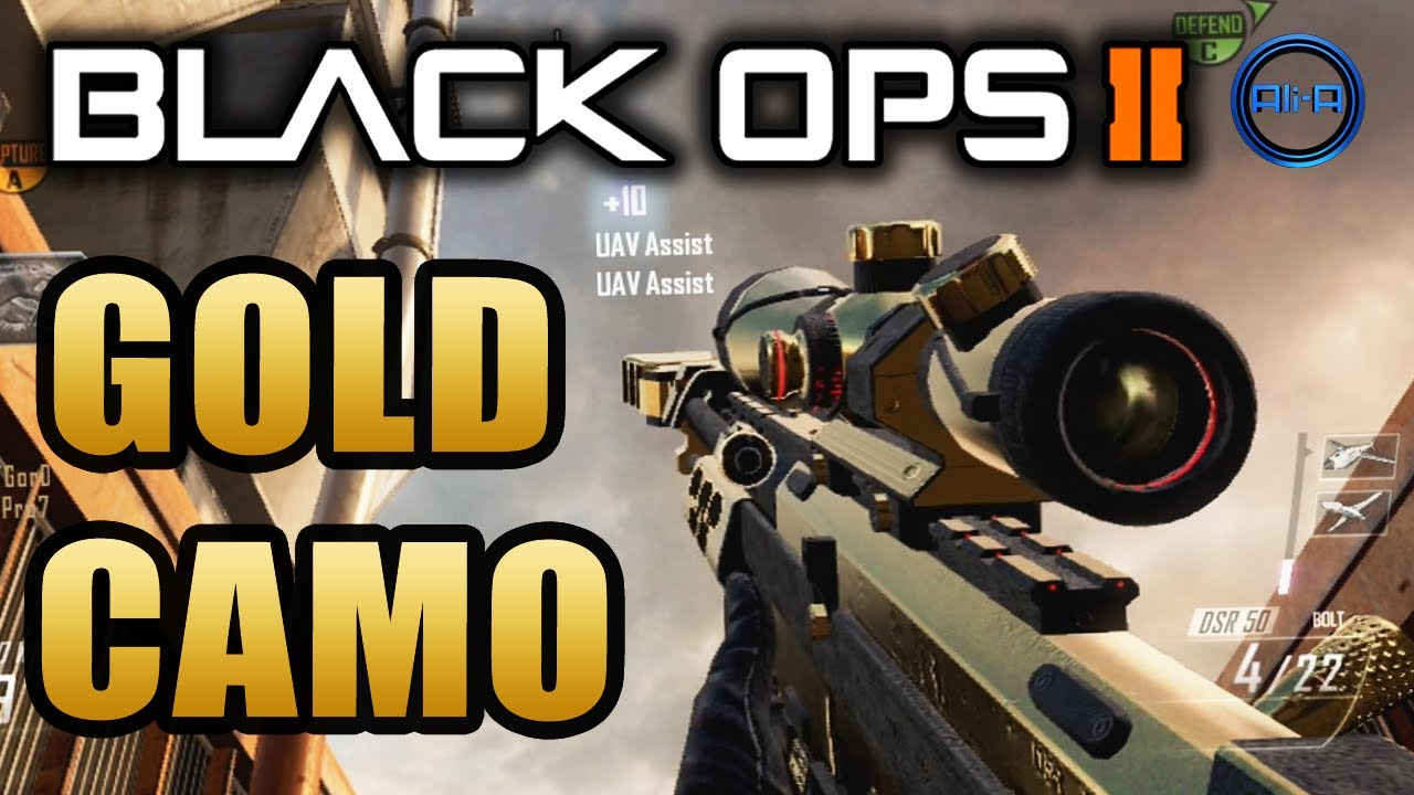 how to get gold camo in black ops 2 cheat