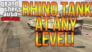 "GTA 5 ONLINE: HOW TO BUY A ""RHINO TANK"" AT ANY LEVEL"