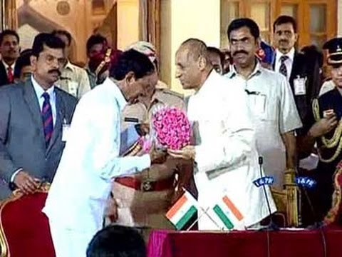 K Chandrasekhar Rao takes oath as CM of Telangana