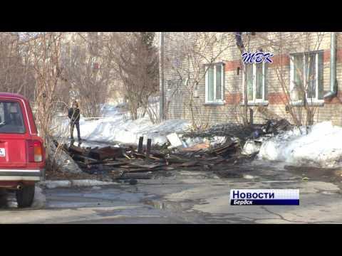 Сгорела комната на третьем этаже в одном из общежитий Бердска