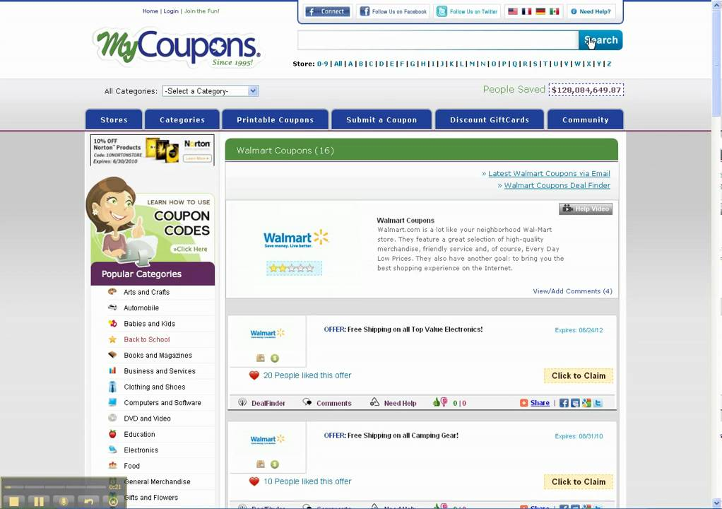 How to use coupons at walmart online
