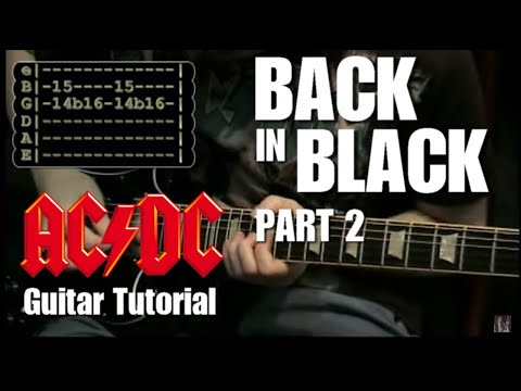 Back in Black - (AC/DC) Lesson part 2