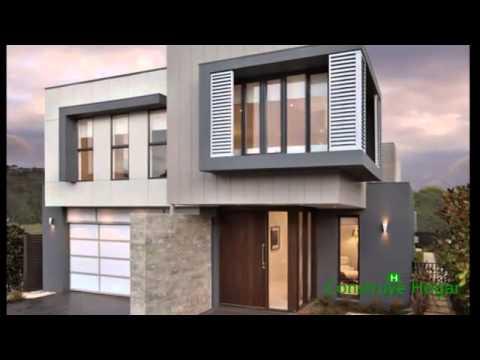 Planos de casas de dos pisos con fachadas modernas
