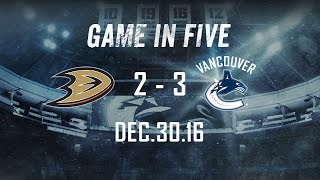 Canucks vs. Ducks Game in Five (Dec. 30, 2016)