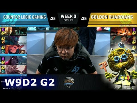CLG vs Golden Guardians | Week 9 Day 2 S8 NA LCS Summer 2018 | CLG vs GGS W9D2