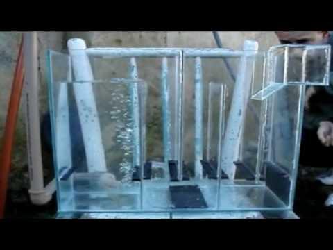 Filtro de cascada para peceras marinas o de agua dulce
