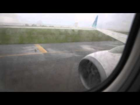 Rainy Morning taxi by Garuda Indonesia @ Ngurah Rai Airport in Denpasar