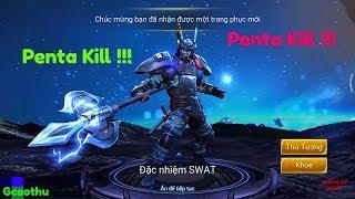 [Gcaothu] Trận đấu ăn Penta Kill !! Đẳng cấp trước màn solo cân 5 của Lữ Bố Đặc Nhiệm SWAT