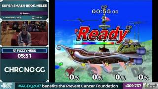 Super Smash Bros. Melee by fuzzyness in 37:42 - AGDQ 2017 - Part 55