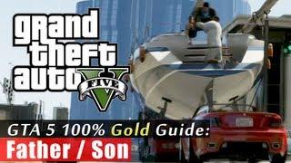 GTA 5 Walkthrough: Father/Son (100% Gold Completion) HD