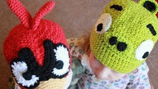 Crochet Angry Bird Pig Beanie Right Hand Version