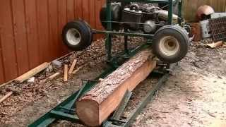 Old Golf Kart Made Into A Useable Sawmill