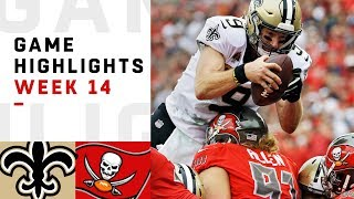 Saints vs. Buccaneers Week 14 Highlights | NFL 2018