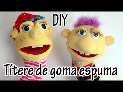 Manualidad : Títere de goma espuma - Foam puppet