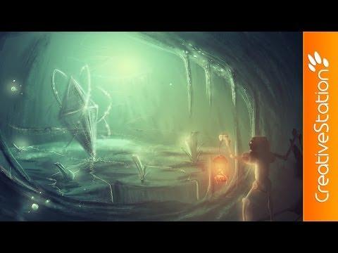 Cave - Speed Painting (#Photoshop)   CreativeStation