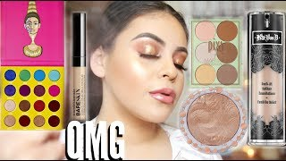 TESTING MY SUBSCRIBERS FAVORITE MAKEUP: FULL FACE OF FIRST IMPRESSIONS! | JuicyJas