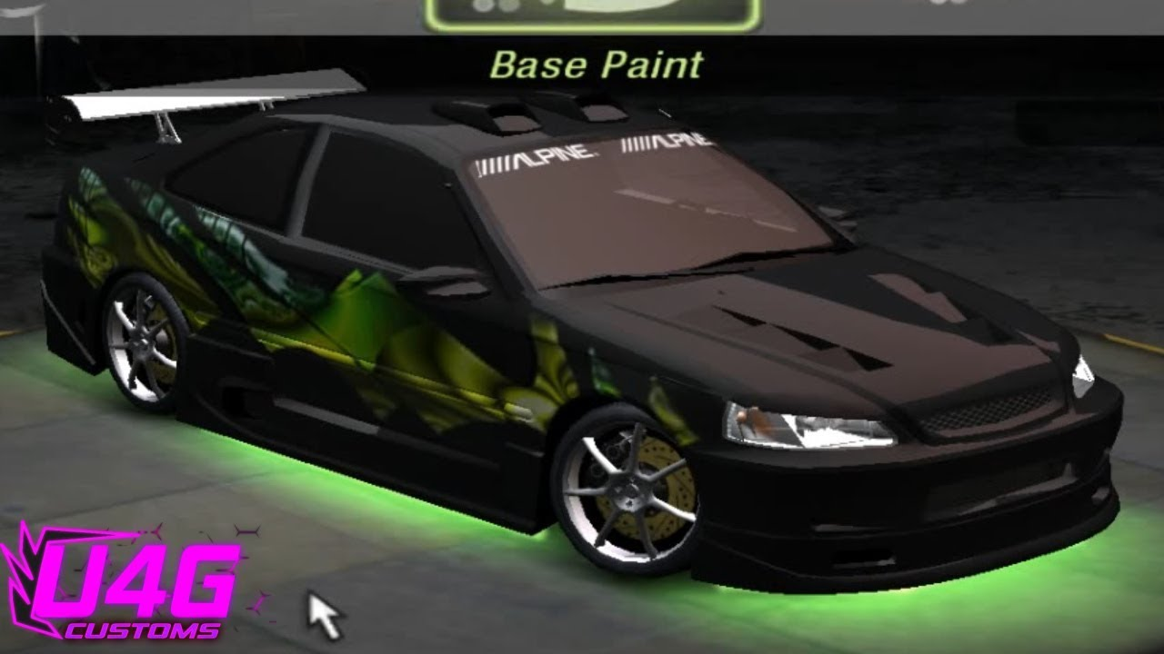 need for speed underground 2 honda civic tuning by. Black Bedroom Furniture Sets. Home Design Ideas