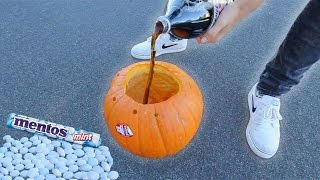 COKE & MENTOS EXPLODES INSIDE PUMPKIN!