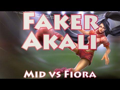 SKT T1 Faker, Akali Mid vs Fiora