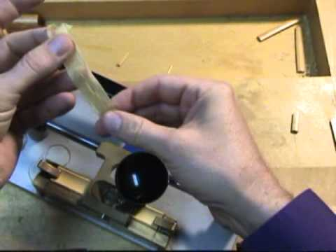 Bassoon Reed Making 1: Gouging