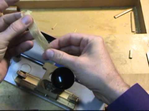 Bassoon Reed Making 1: Gouging