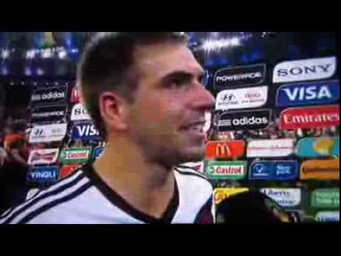 WM Finale 2014 Deutschland - Argentinien 1:0 Philipp Lahm Interview