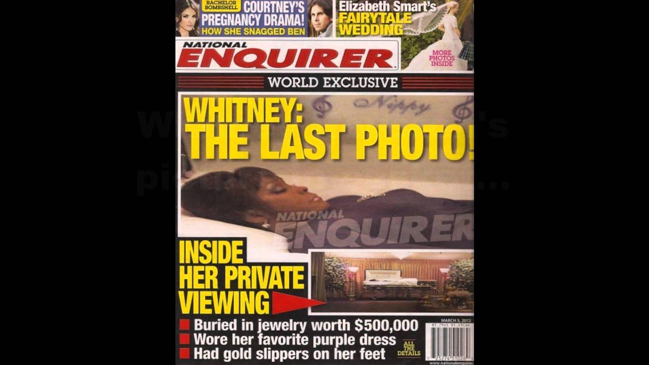 Whitney Houston Open Casket Photo Graces National Enquirer Cover Whitney houston open casket photos review