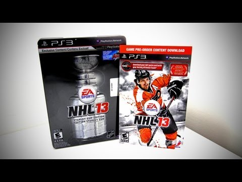 NHL 13 Stanley Cup Edition Unboxing (NHL 13 Collector's Edition)