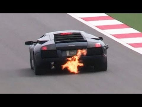 Twin Turbo Murcielago - Shooting Fire