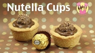 NUTELLA CUPS - make these yummy nutella ferrero tarts using our cookie dough recipe! Mothers day