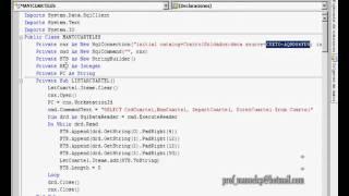 ELABORACION Y MANEJO DE UNA BASE DE DATOS EN SQL Y VISUAL