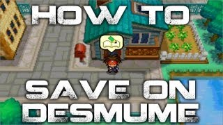 How To Save In Pokemon Black And White 2 DeSmuME