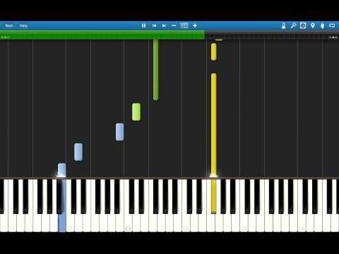 Synthesia - FFVII Aerith's theme (4 hands)