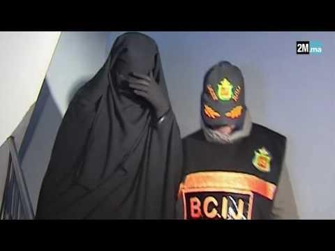 فيديو لحظةاعتقال فتاة قاصر بأولاد تايمة تنتمي لخلية نسائية موالية لداعش