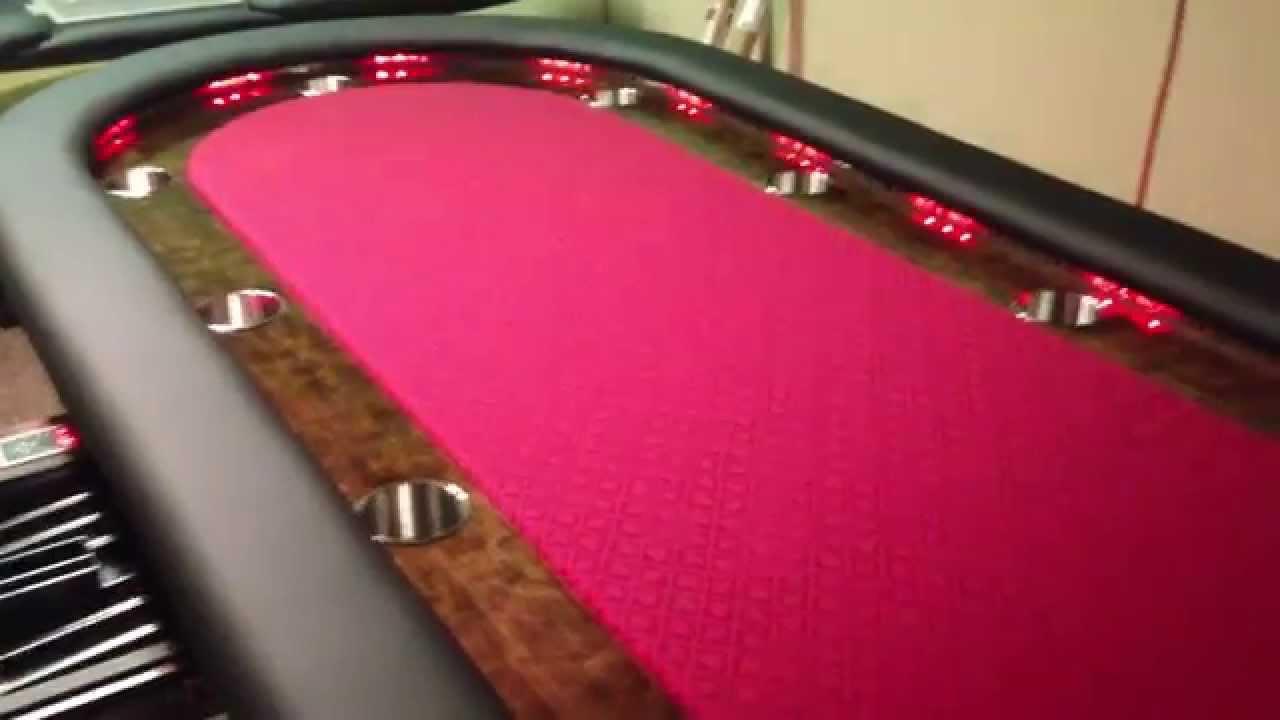 Custom Lighted Poker Table 94 Change Led Lights Youtube