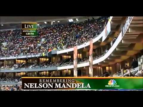 PRESIDENT BARACK OBAMA SPEECH AT THE NELSON MANDELA MEMORIAL IN SOUTH AFRICA