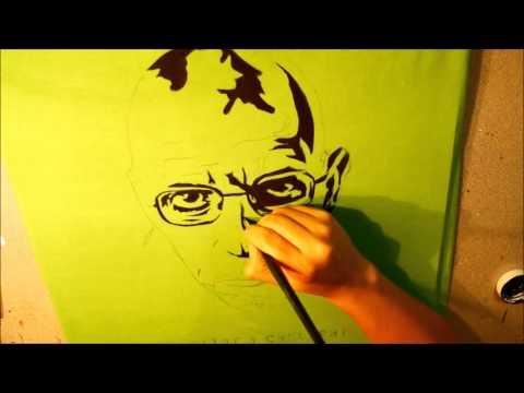 Michel Foucault, pintura sobre camiseta