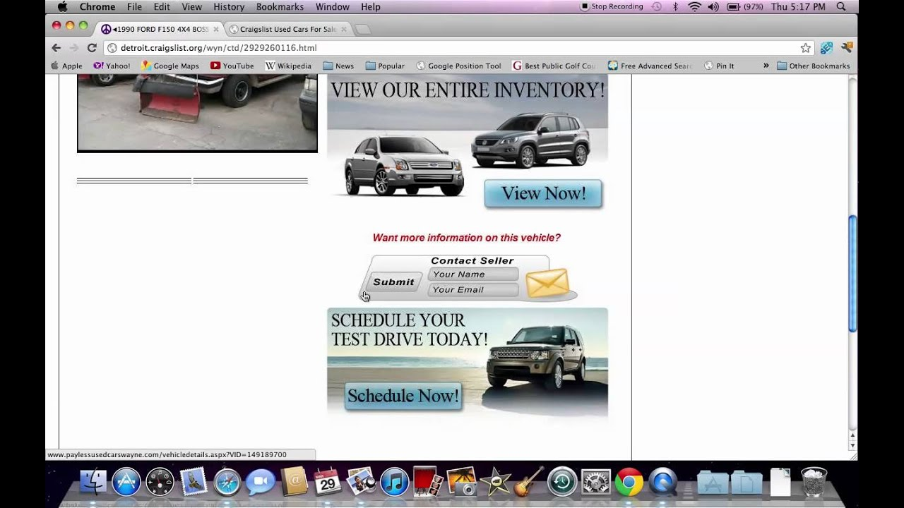 Craigslist Detroit Cars And Trucks Used Vehicles Available Online Youtube