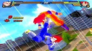 Vegeta SSJ Dios Vs Goku SSJ Dios Dragon Ball Z Budokai
