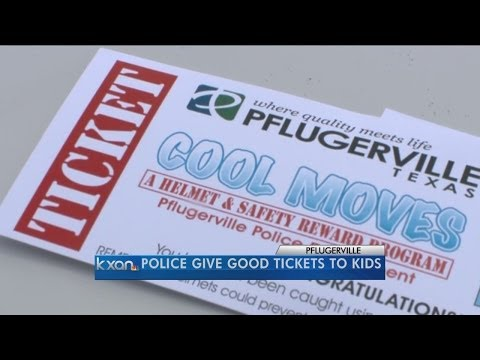 Pflugerville police issue tickets for doing good