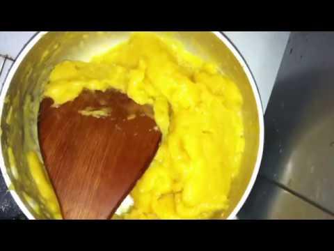 How I make cream puffs (choux) by hand & microwave oven - Làm bánh su kem bằng tay và lò vi sóng