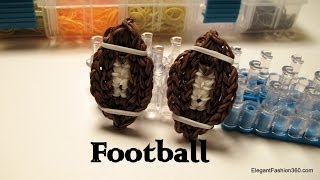 How To Make Football Charm Rainbow Loom Easy